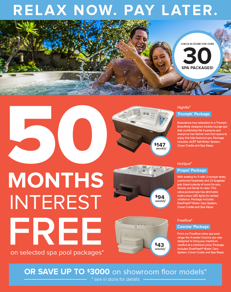hot spring spa finance 50 months